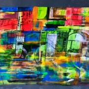 Chinatown 35x50 (2018) colori fluo